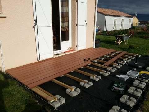 Amnagement Terrasse Composite Sur Plot Beton  Terrasse