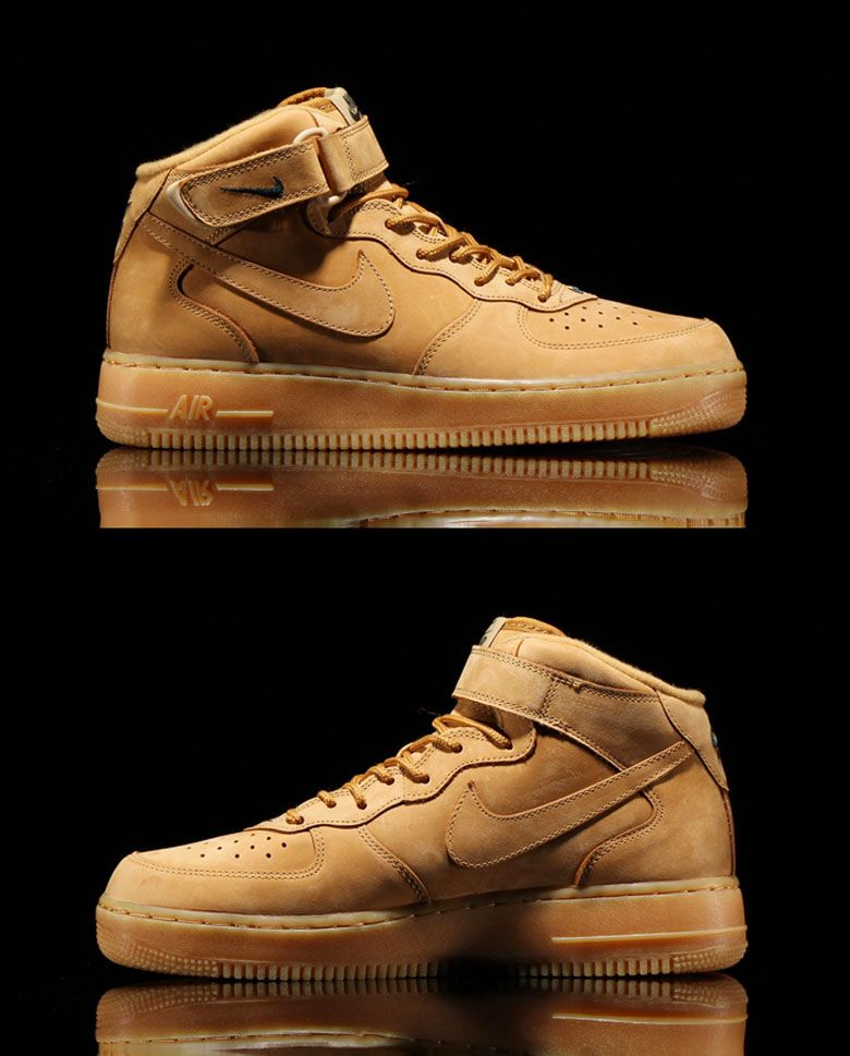 Nike Air Force 1 Mid Flax Wheat 2014 Release Date Flax Outdoor Green 715889  200