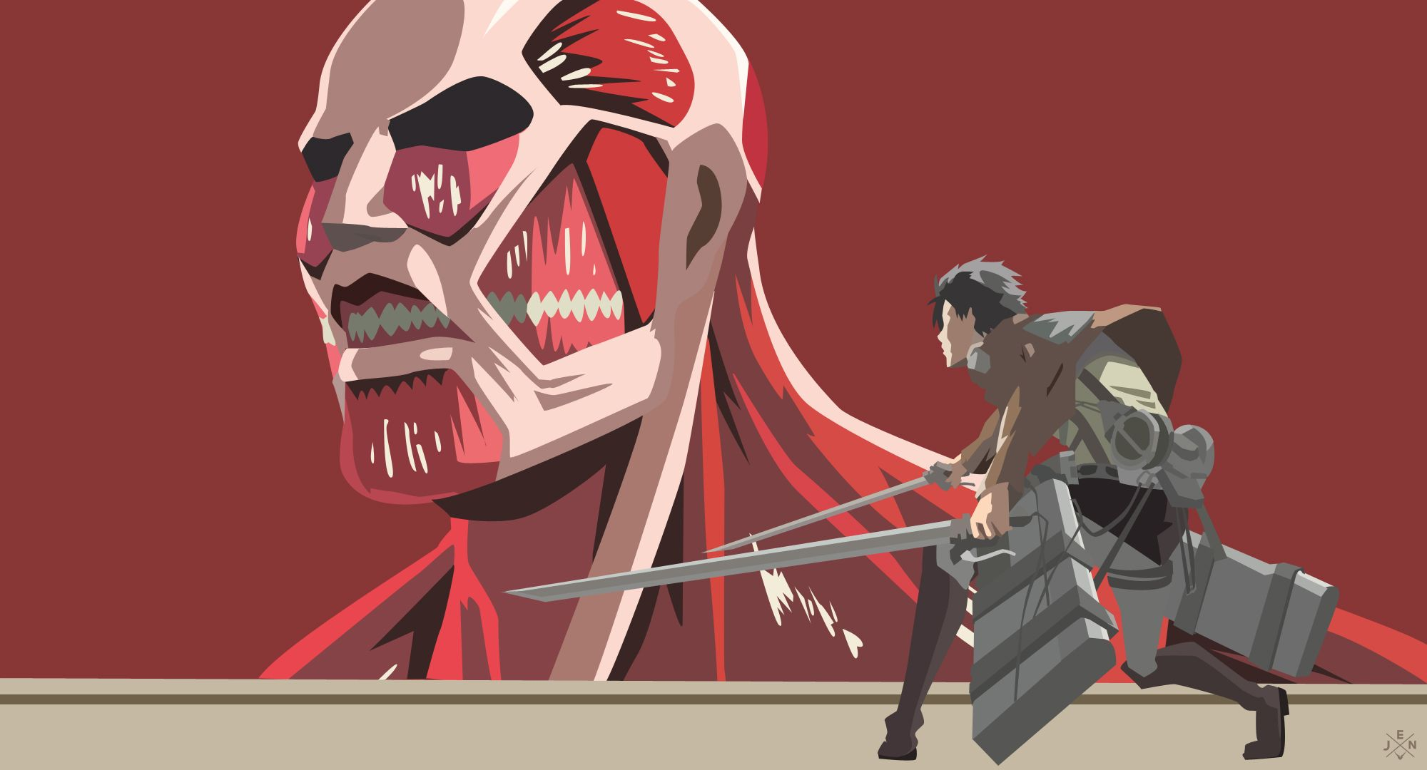 Eren X Colosal Titan By Jmsedwrd Cool Anime Wallpapers Attack On Titan Anime Titans Anime