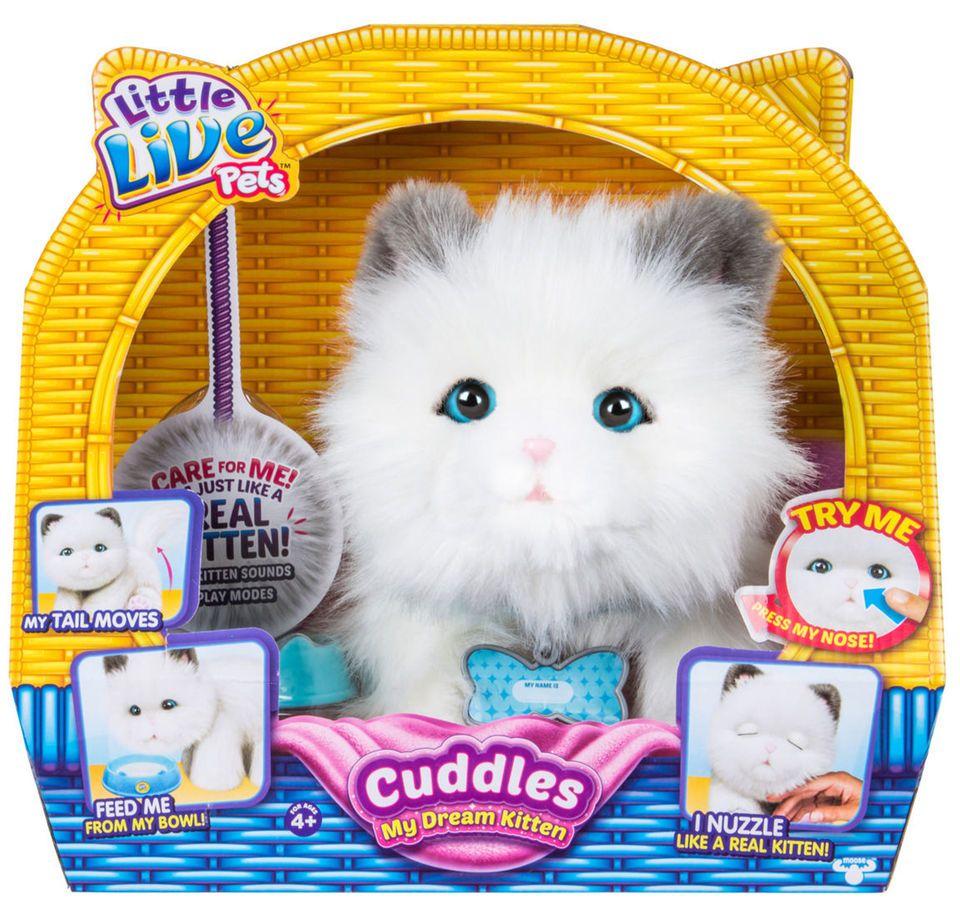 Little Live Pets Cuddles My Dream Kitten White Pets Cuddling Little Live Pets Kitten Plush Toy