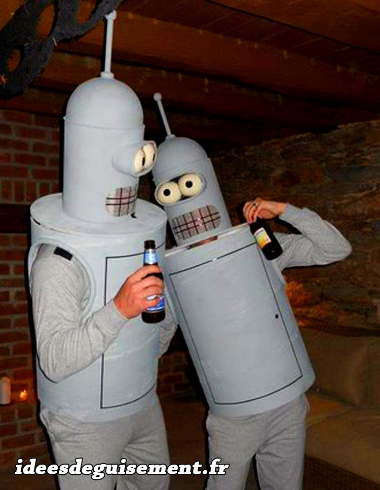 bender de futurama idees originales deguisement costume et cosplay dessin anime a deux en duo. Black Bedroom Furniture Sets. Home Design Ideas
