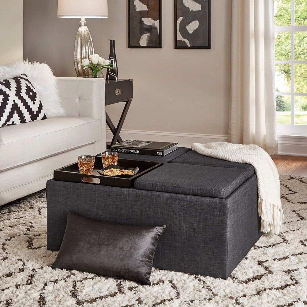 Overstock Com Online Shopping Bedding Furniture Electronics Jewelry Clothing More Cocktail Ottoman Grey Storage Square Storage Ottoman [ 1000 x 1000 Pixel ]