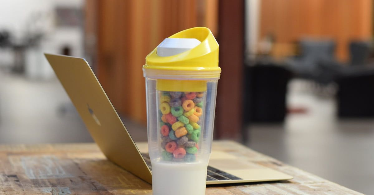 Crunchcup lets you eat cereal on the go finally canning