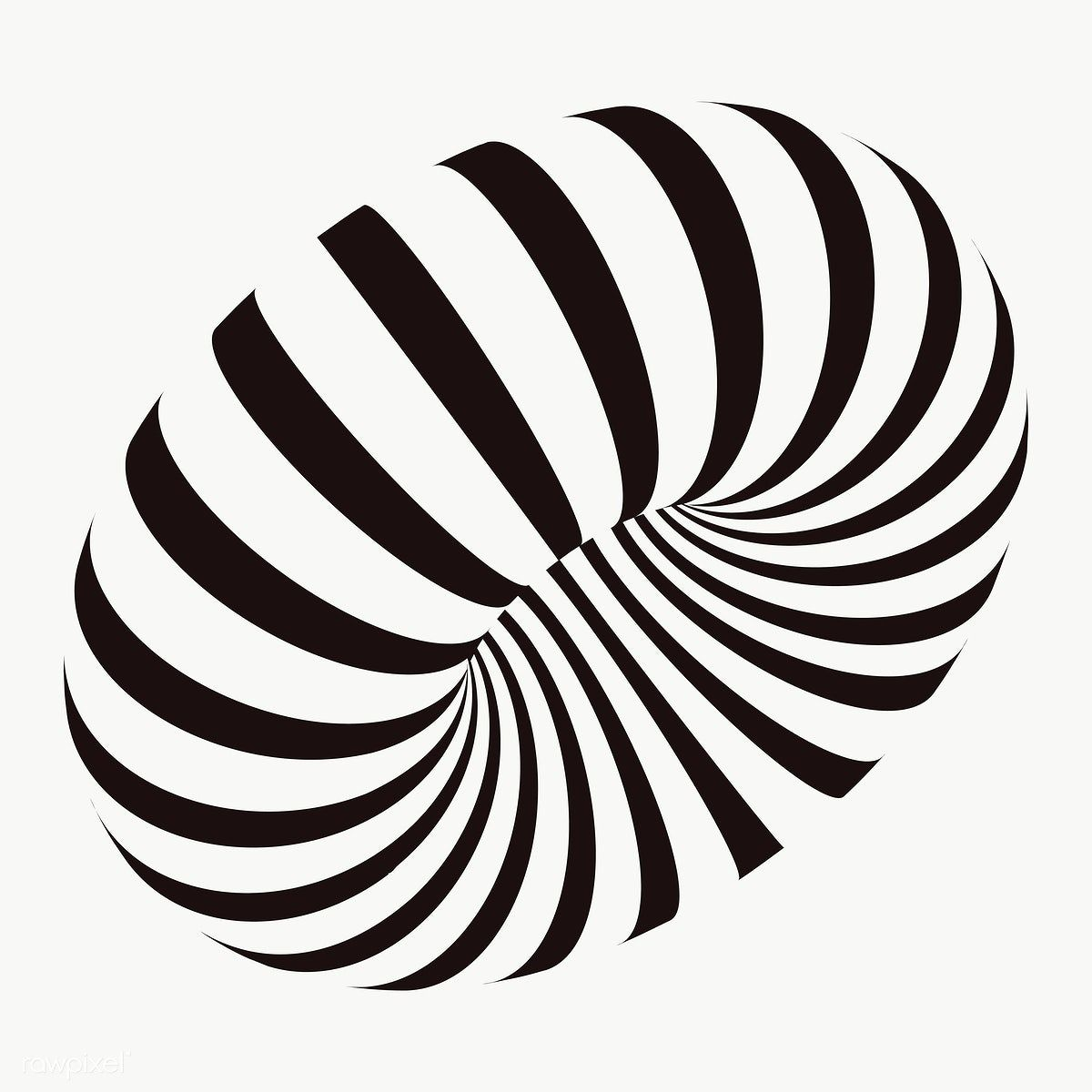 Black Torus 3d Shape Transparent Png Premium Image By Rawpixel Com Aew Flower Stencil Patterns Vector Background Pattern Geometric Stencil