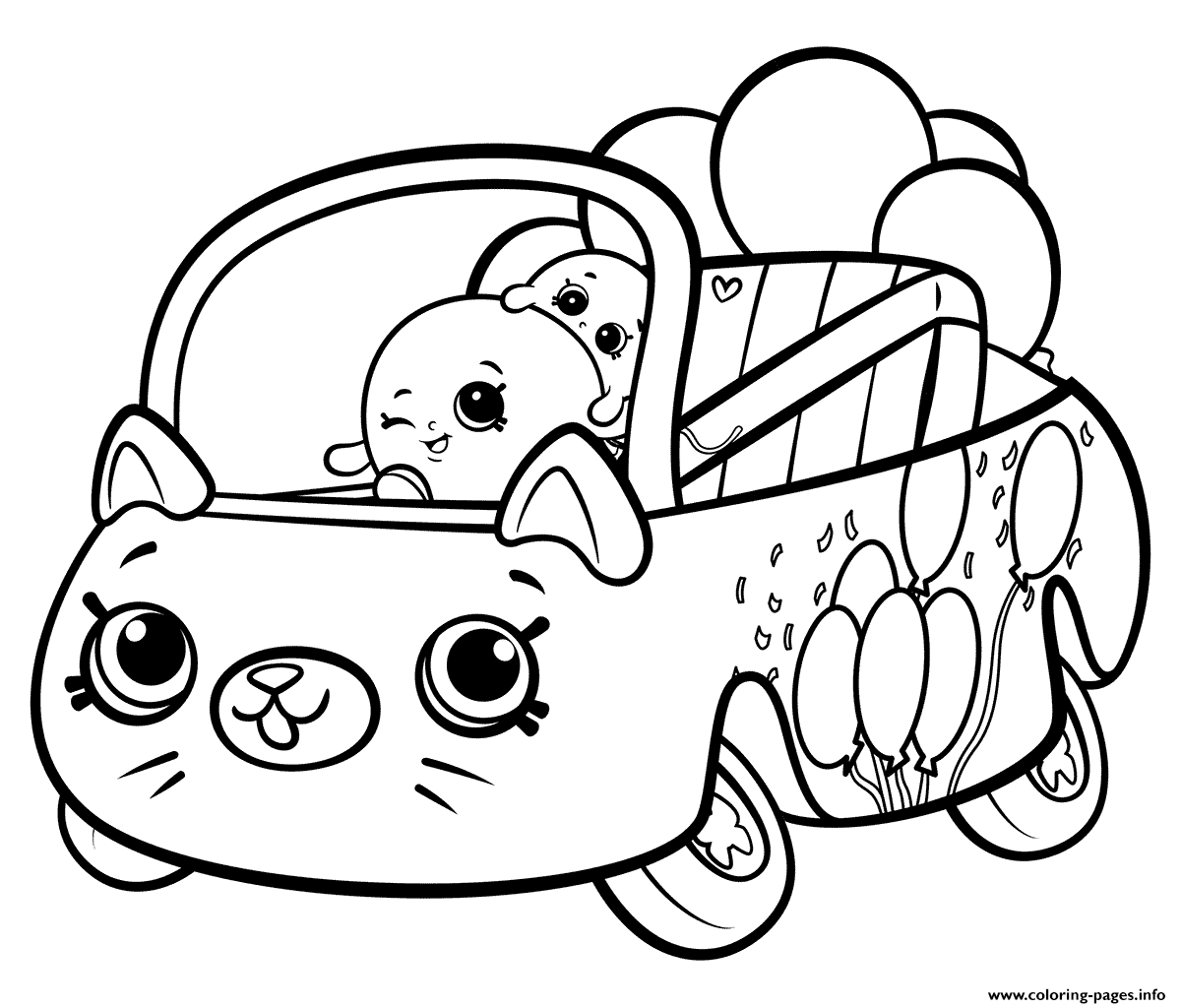 Print Shopkins Cutie Cars Bumper Balloons Coloring Pages Shopkins Colouring Pages Cars Coloring Pages Cute Coloring Pages