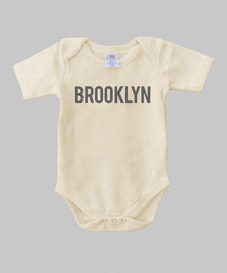 Natural 'Brooklyn' Organic Bodysuit - Infant