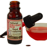 Natural Liquid Holiday Red food coloring....made from plants ...