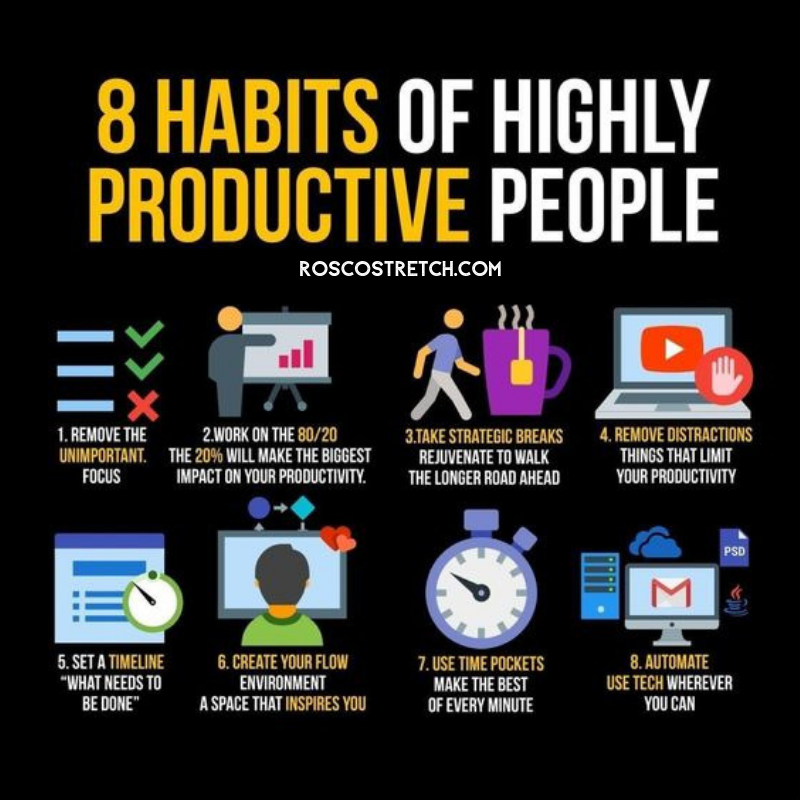25 Highly Motivational Quotes: 8 Habits Of Highly Productive People #Entrepreneur