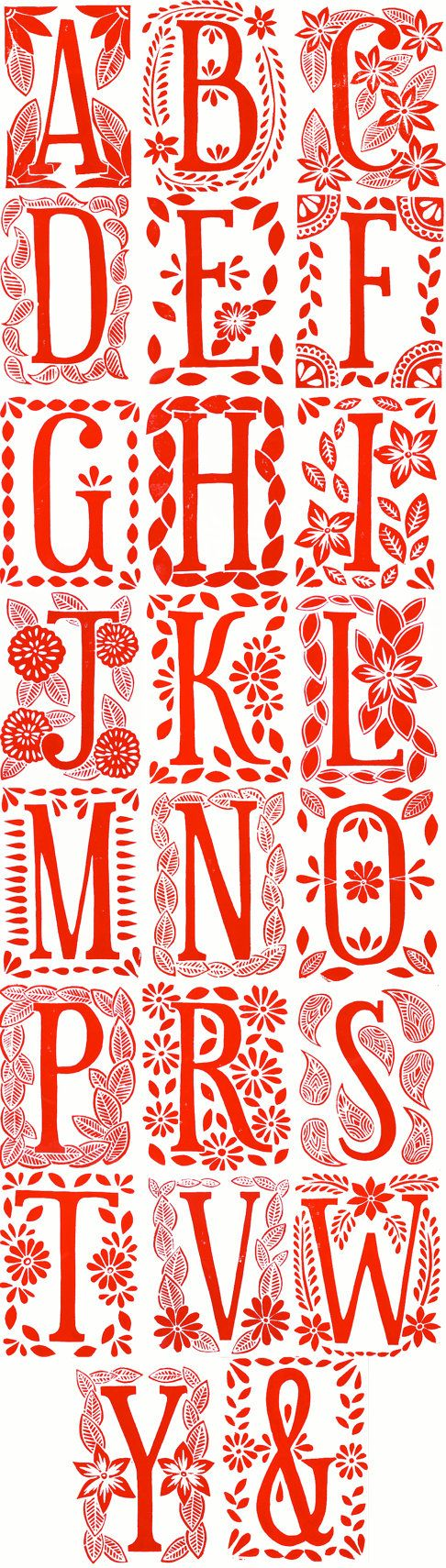 Lettres  Typo    Block Prints Monograms And Envelopes