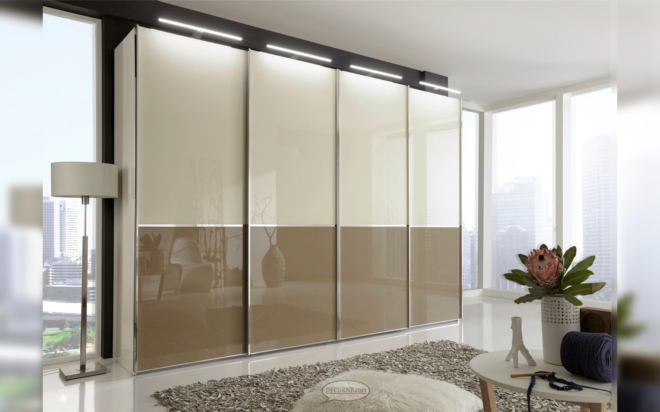 Modern Wardrobe Sliding Doors With Mirrors