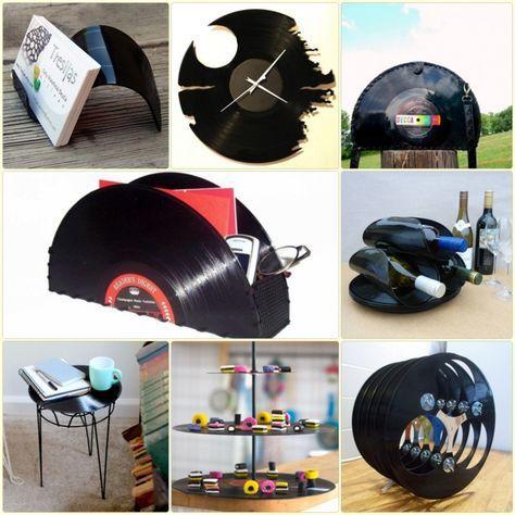 kreative bastelideen mit schallplatten die leicht zu realisieren sind schallplatten. Black Bedroom Furniture Sets. Home Design Ideas