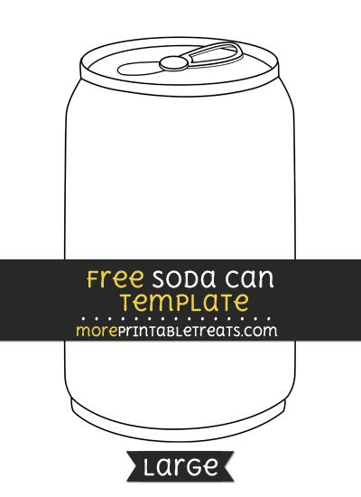 free soda can template large shapes and templates printables