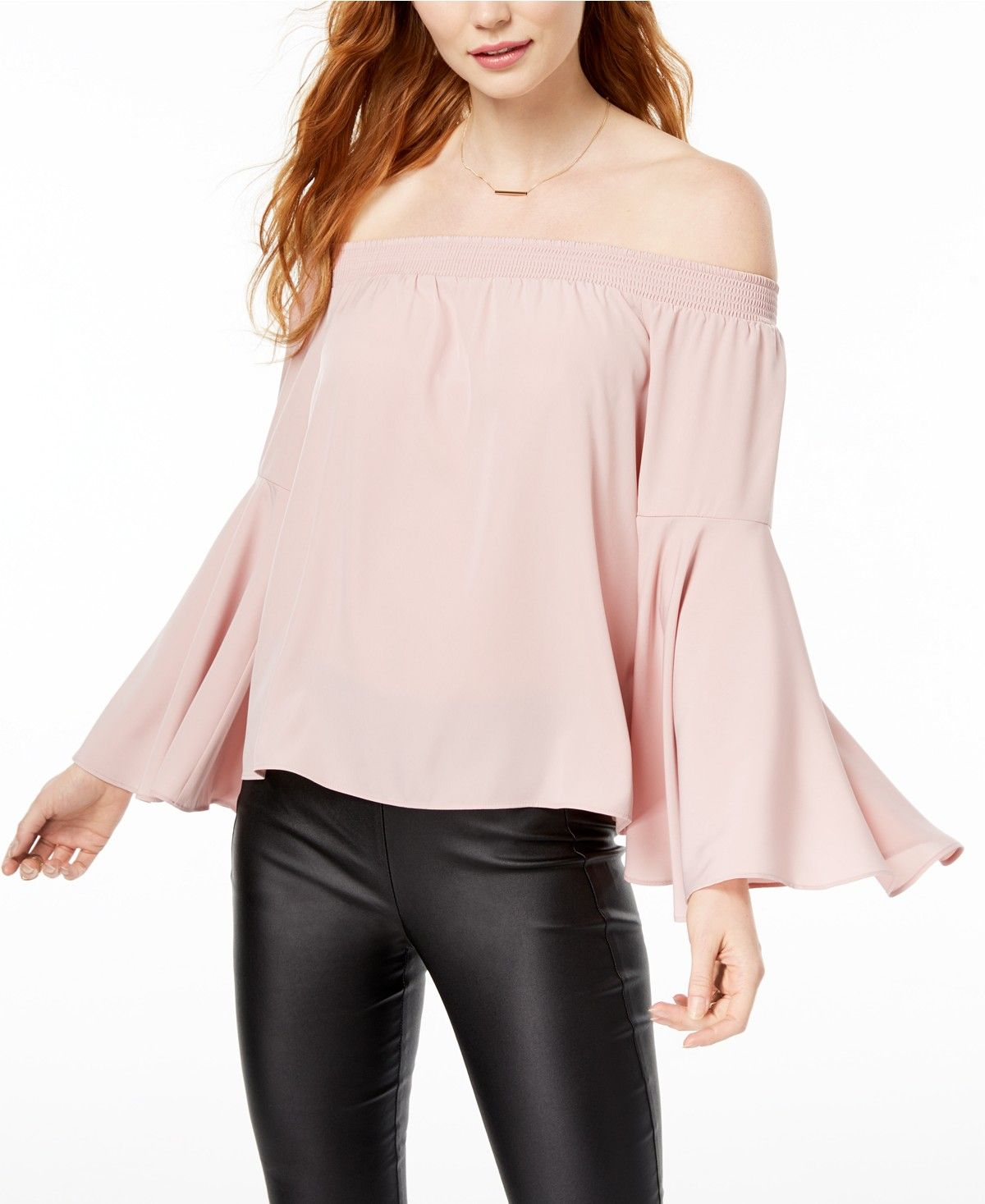 Bar Iii Off The Shoulder Bell Sleeve Top Created For Macy S Tops