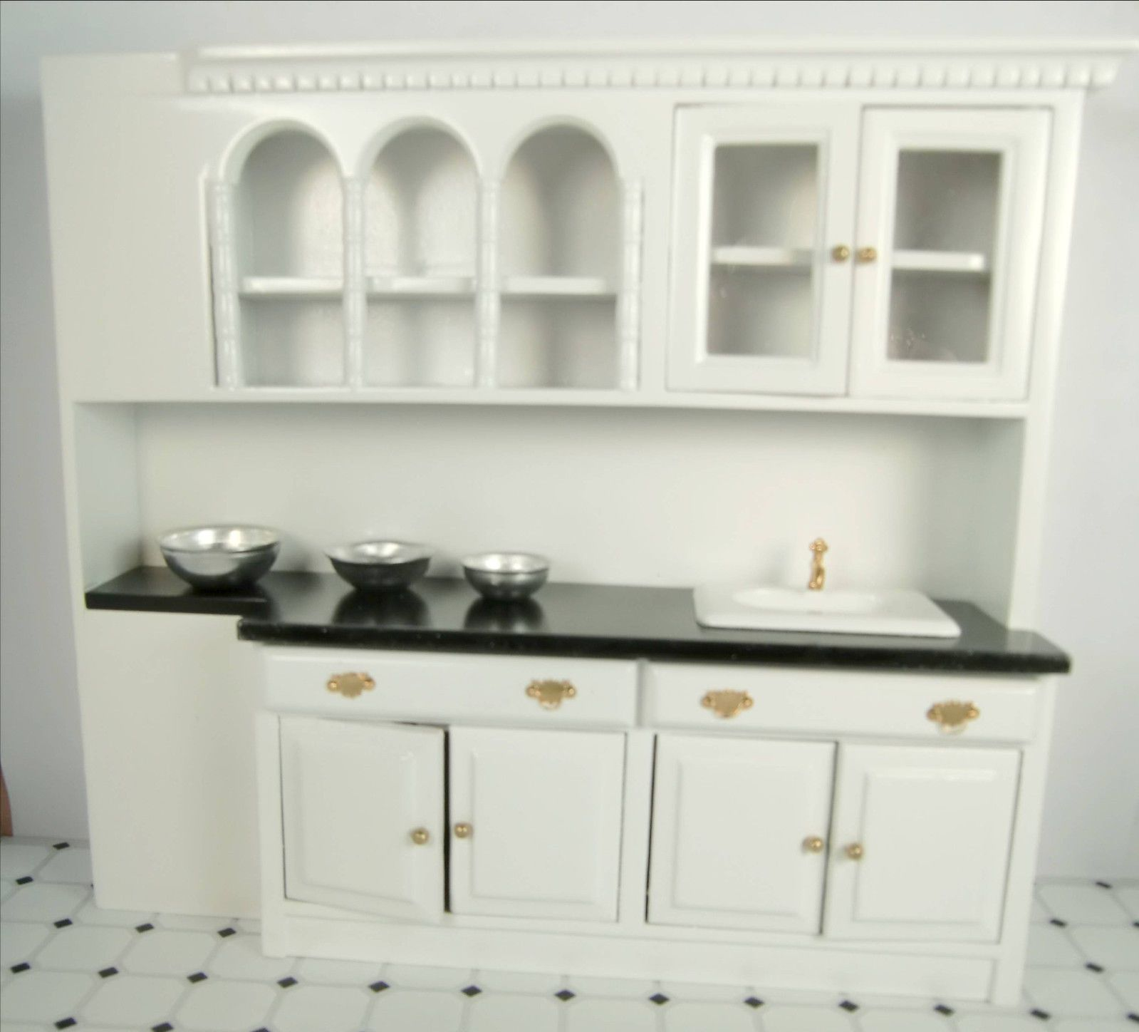 Home Furniture Dollhouse Furniture Kitchen dollhouse furniture kitchen cabinets with sink miniature wall cabinets