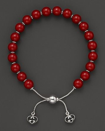 Gucci Love Britt S Sterling Silver And Red Varnished Wood Bead Bracelet Jewelry Accessories Fine Jewelry Bracelets Bloomingdale S Beaded Bracelets Wood Bead Bracelet Mens Beaded Bracelets