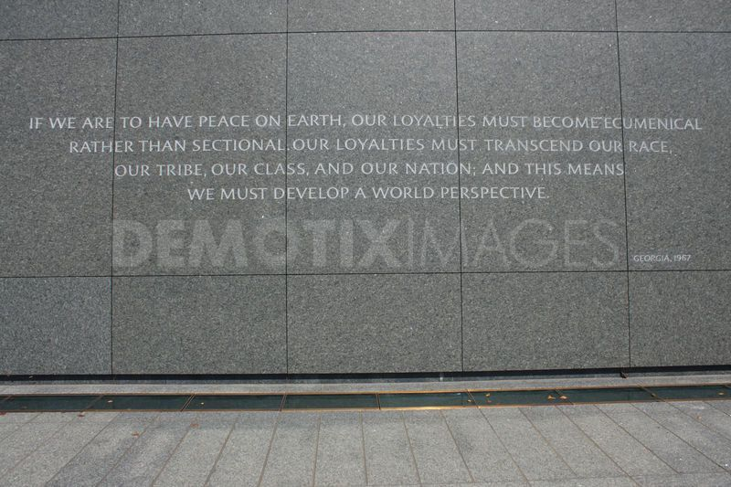 Quotations From Inscription Wall Of Martin Luther King Jr Memorial