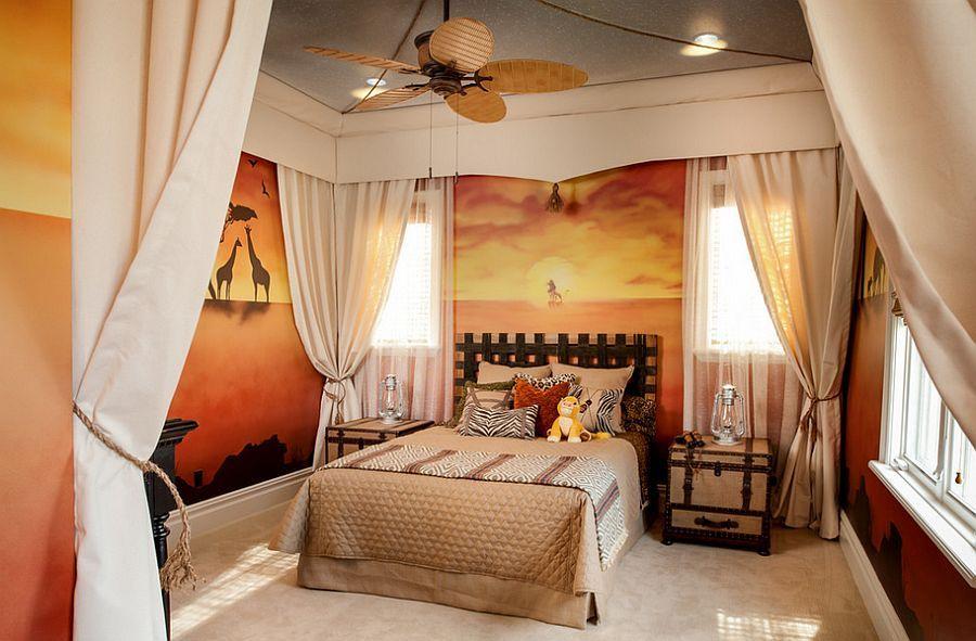 Gentil Lion King Bedroom Design Captures The Enchanting Spirit Of Africa [From:  FrazierFoto]