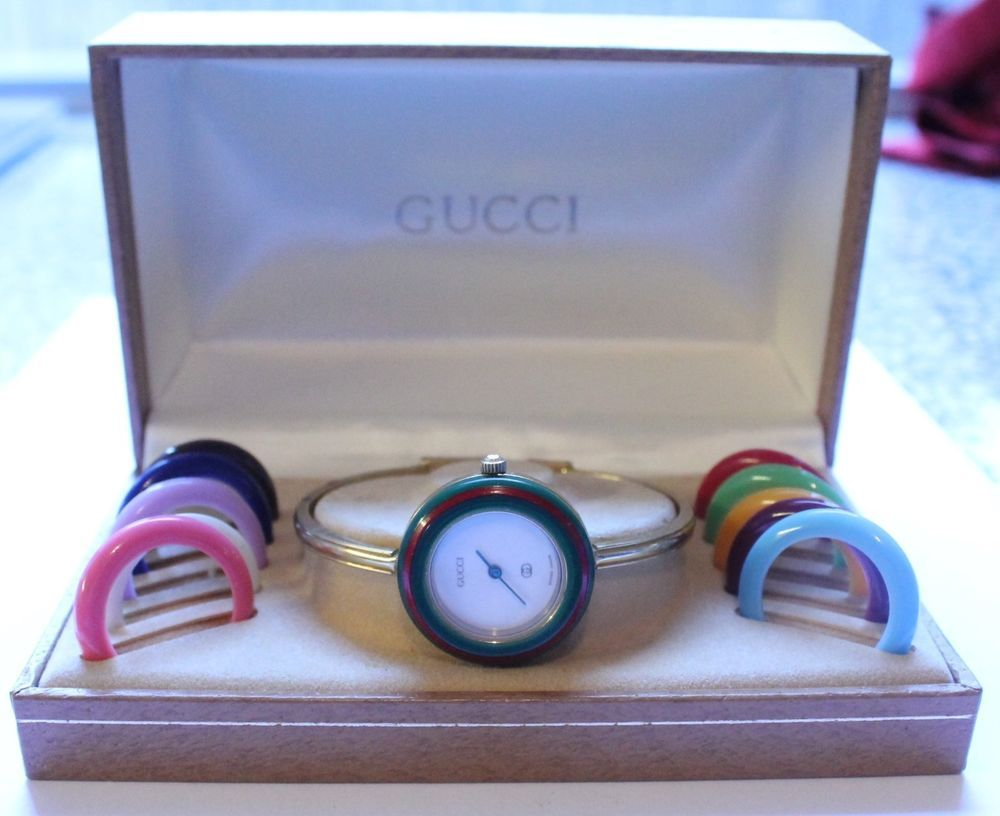 b5b54522caa Authentic Ladies Gucci Watch 1100-L with Box 12 Bezels WORKS  Gucci  Dress