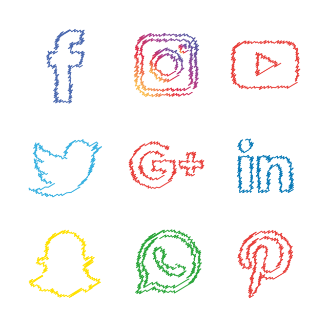 Social Media Colourful Icons Set, Social Media Icons, Social Media