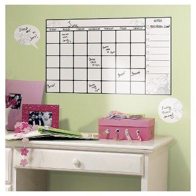 RoomMates Dry Erase Calendar Peel & Stick Wall Decal