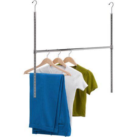 Closet Rods Walmart Honey Can Do Adjustable Hanging Closet Rod Chrome  Walmart