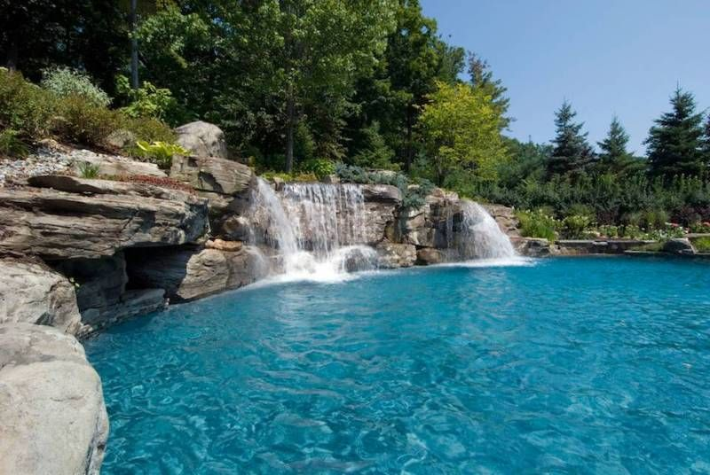 21 Ideas Of Outdoor Swimming Pool Designs With Incredible Waterfalls