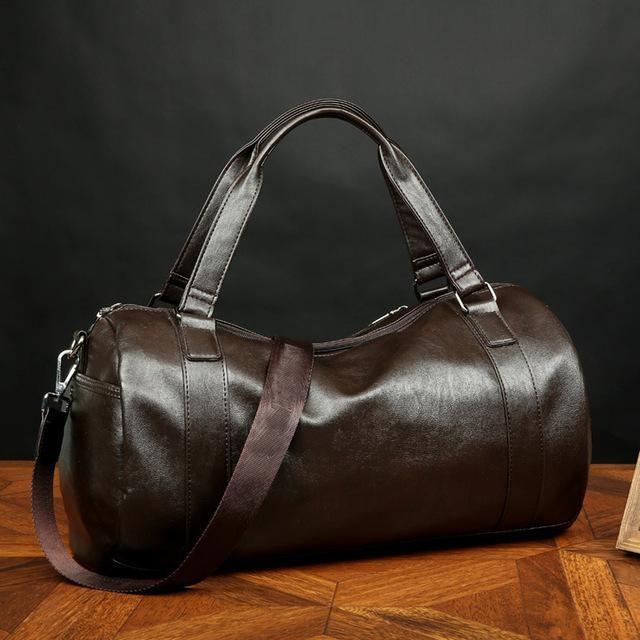 07fad2e63341 20-25 Litre Top PU Leather Men's Sports Bags Gym Bags Classic Sports ...