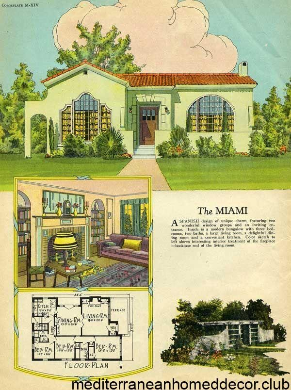 Photo of Spanish style cottage – 1925 Radford – Miami House Plan