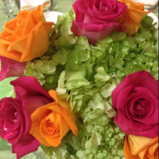 Another photo of the beautiful flowers in the Something New centerpieces.