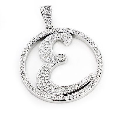 Custom made diamond initial e pendant 329ct 10k gold alphabet custom made diamond initial e pendant 329ct 10k gold alphabet letter aloadofball Image collections