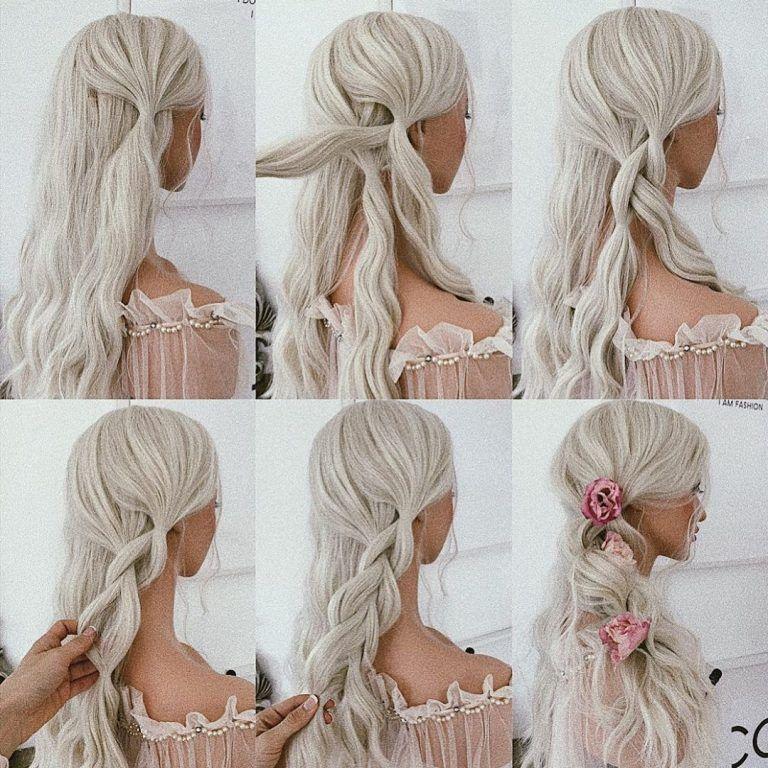 Easy Diy Bridesmaid Hairstyles: 20+ Gorgeous Wedding Hair Tutorials Inspo For Long Hair