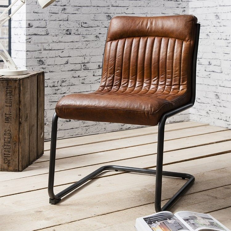Beau HUTCH®   Frank Vintage Real Leather Dining Chair