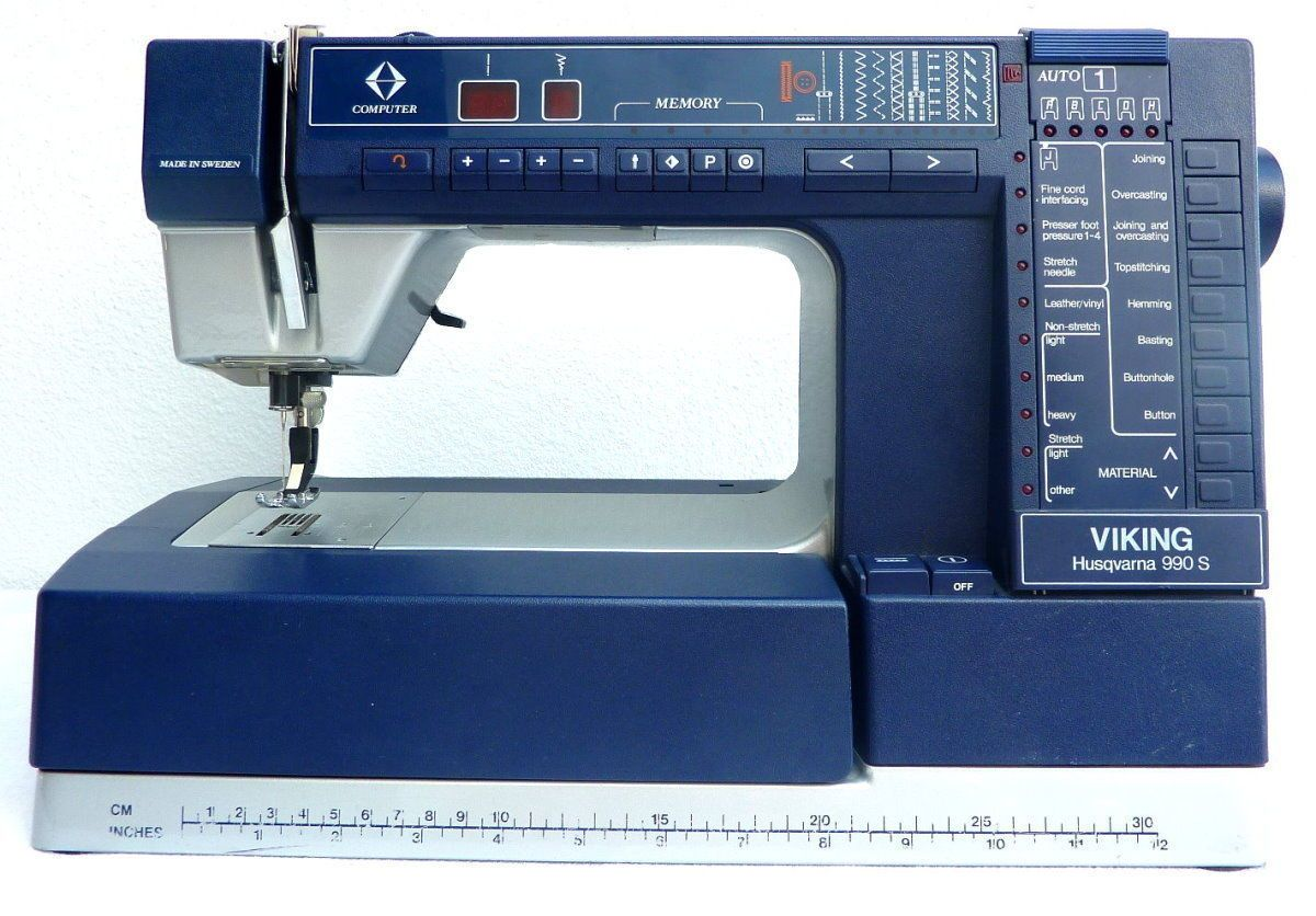 Husqvarna VIKING 990S Sewing Machine - Leather, Exceptional,  Computer-Controlled | Collectibles,