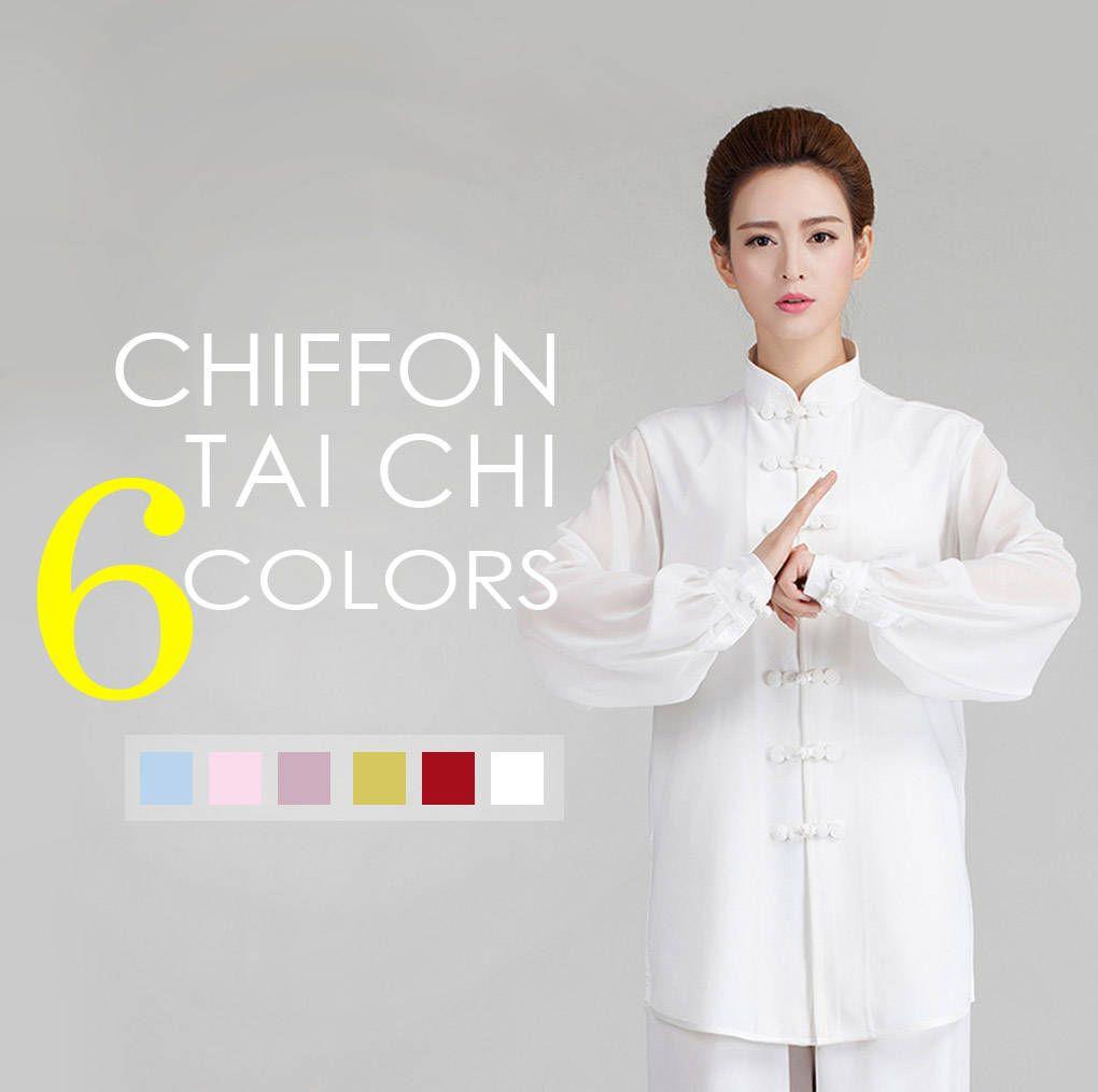 a9a0e6002 Free Shipping - Women Chiffon Long Sleeves Tai Chi Clothes / White  Meditation Clothes / Tai Chi, Kung Fu, Martial arts Uniform Clothing