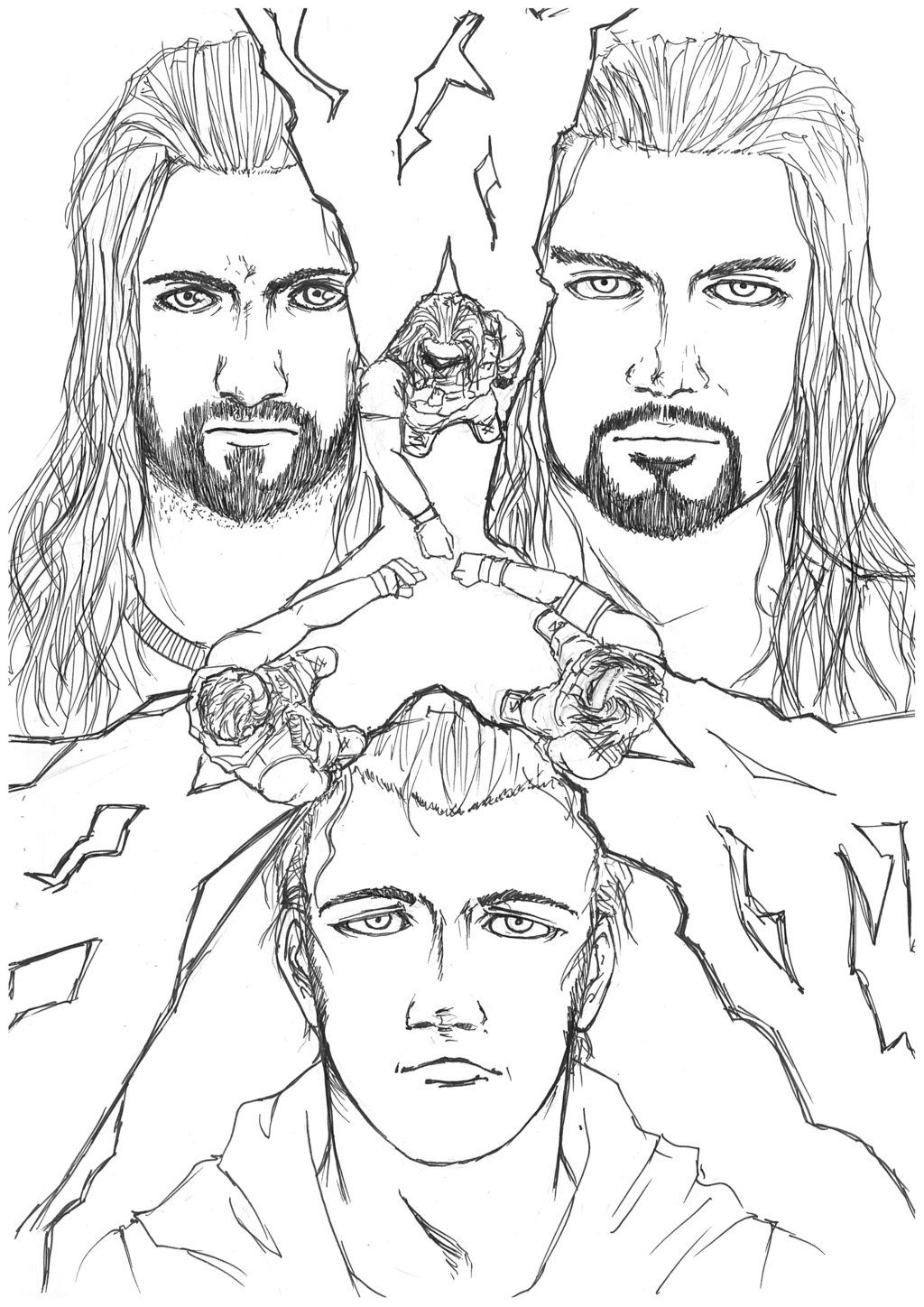 The Team Of Justice Raw Wwe Coloring Pages Superhero Coloring Pages Coloring Pages