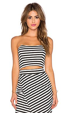 d089251a847 WAYF Strapless Crop Top in Black & White Stripe | outfits ...