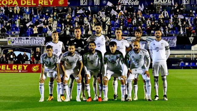 Marbella C F Temporada 2020 21 Alfred Planas Santomé Fernando Román Juanmi Callejón Granero Y Marcos Ruiz Nacho Sánche En 2021 Equipo De Fútbol Marbella Fútbol