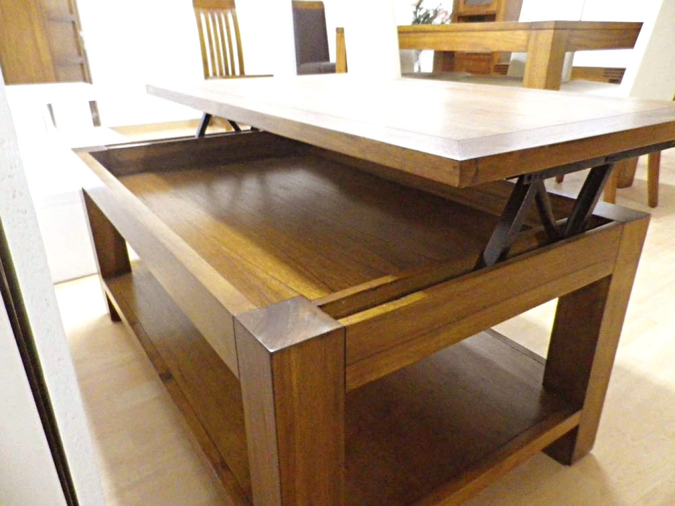 Table Basse Relevable En Bois Avec Table Basse Relevable En Bois