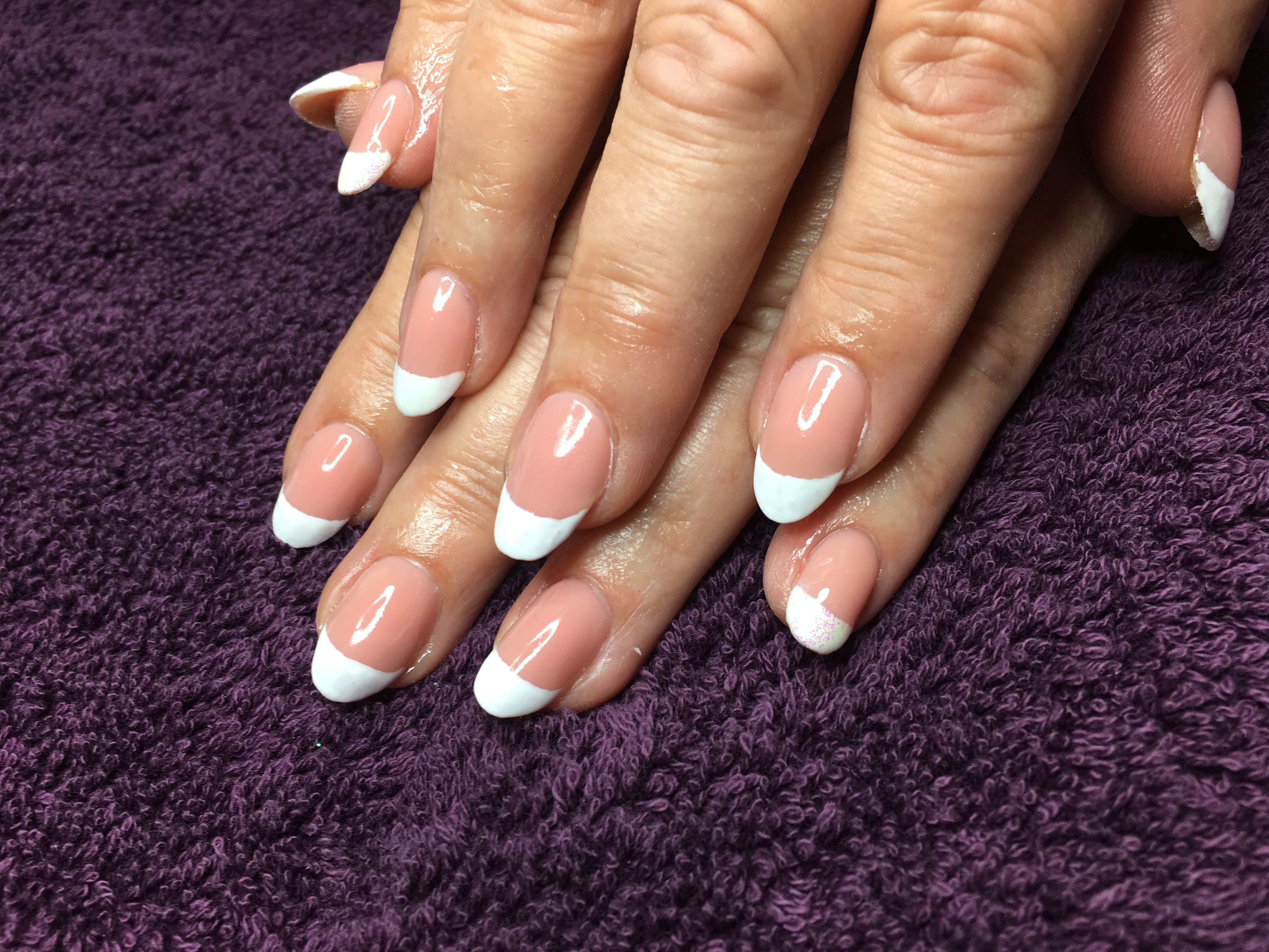 French manicure using gelish polygel manicure my nails