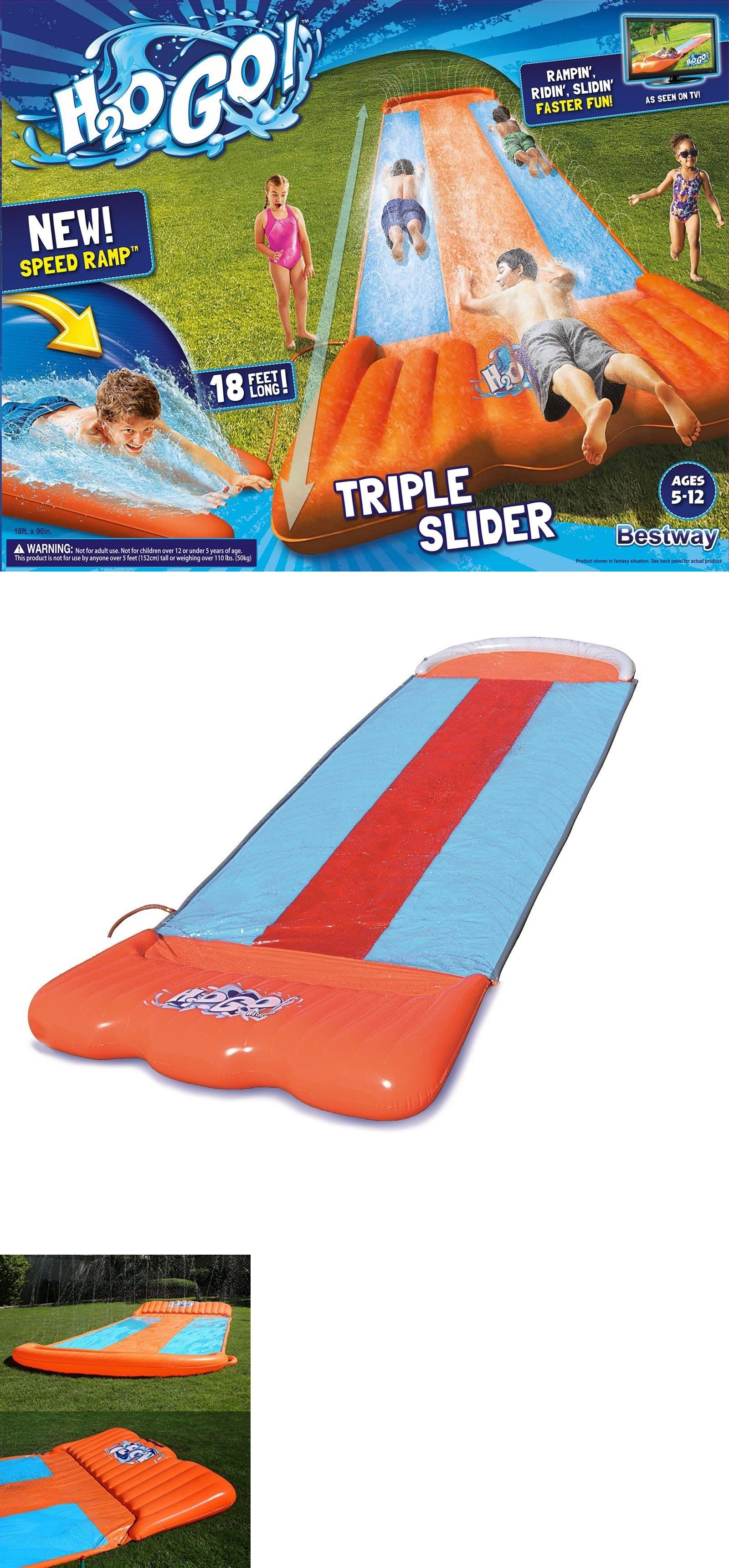 water slides 145992 inflatable water toy slip and slide wave