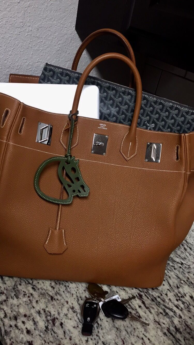 bf3345cca275 Hermes - HAC Birkin bag and horse head charm.