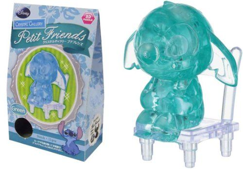 "Hanayama Green/"" 3D Crystal Puzzles 13 Pieces /""Stitch Disney"