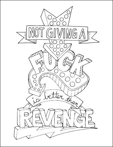 Free Printable Coloring Pages For Adults With Swear Words Swear