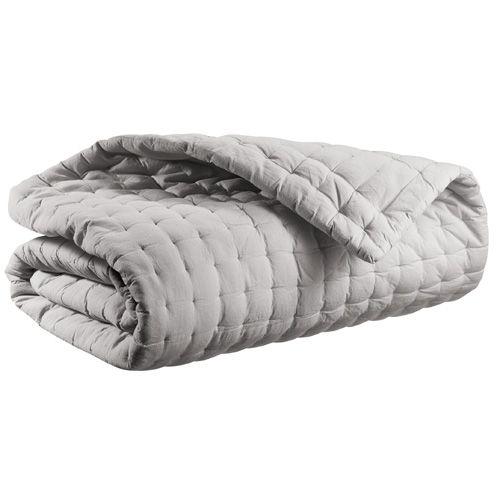 couvre lit matelassé Couvre lit matelassé en coton gris ou taupe Neo Winkler | Chambre  couvre lit matelassé
