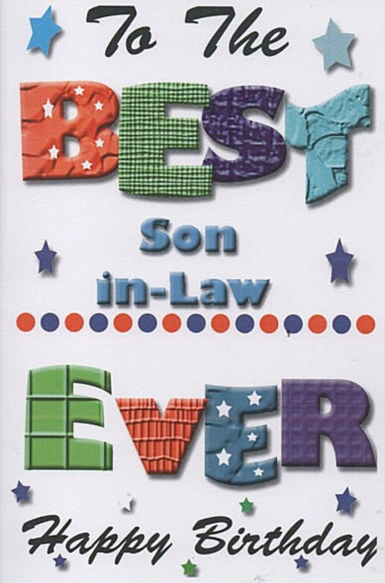 Happy Birthday Son In Law Free Card Husband