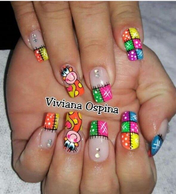 Pin de Bibiana en uñas | Pinterest | Diseños de uñas, Uñas lindas y ...