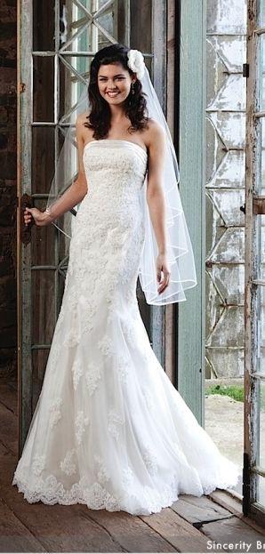 ♥ Brautkleid mit Spitze Sincerity Bridal Gr.38 ♥ Ansehen: http ...