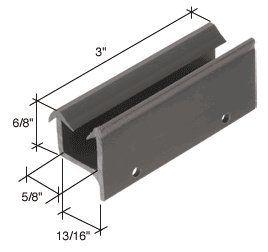 Crl 1 1 32 Wide Sliding Shower Door Bottom Guide By Crl 13 00