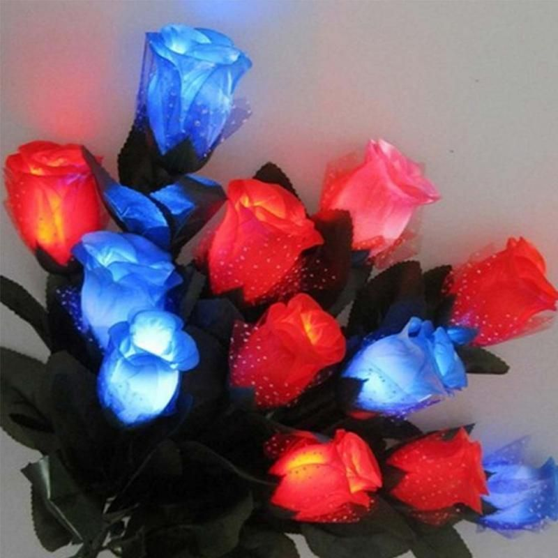 Details about Luminous Plastic LED Glowing Rose Simulation For