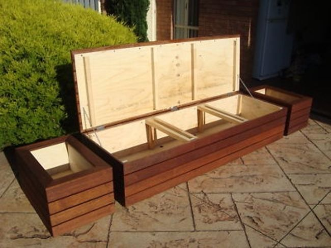 gallery for diy outdoor storage bench build it pinterest outdoor storage bench plans. Black Bedroom Furniture Sets. Home Design Ideas